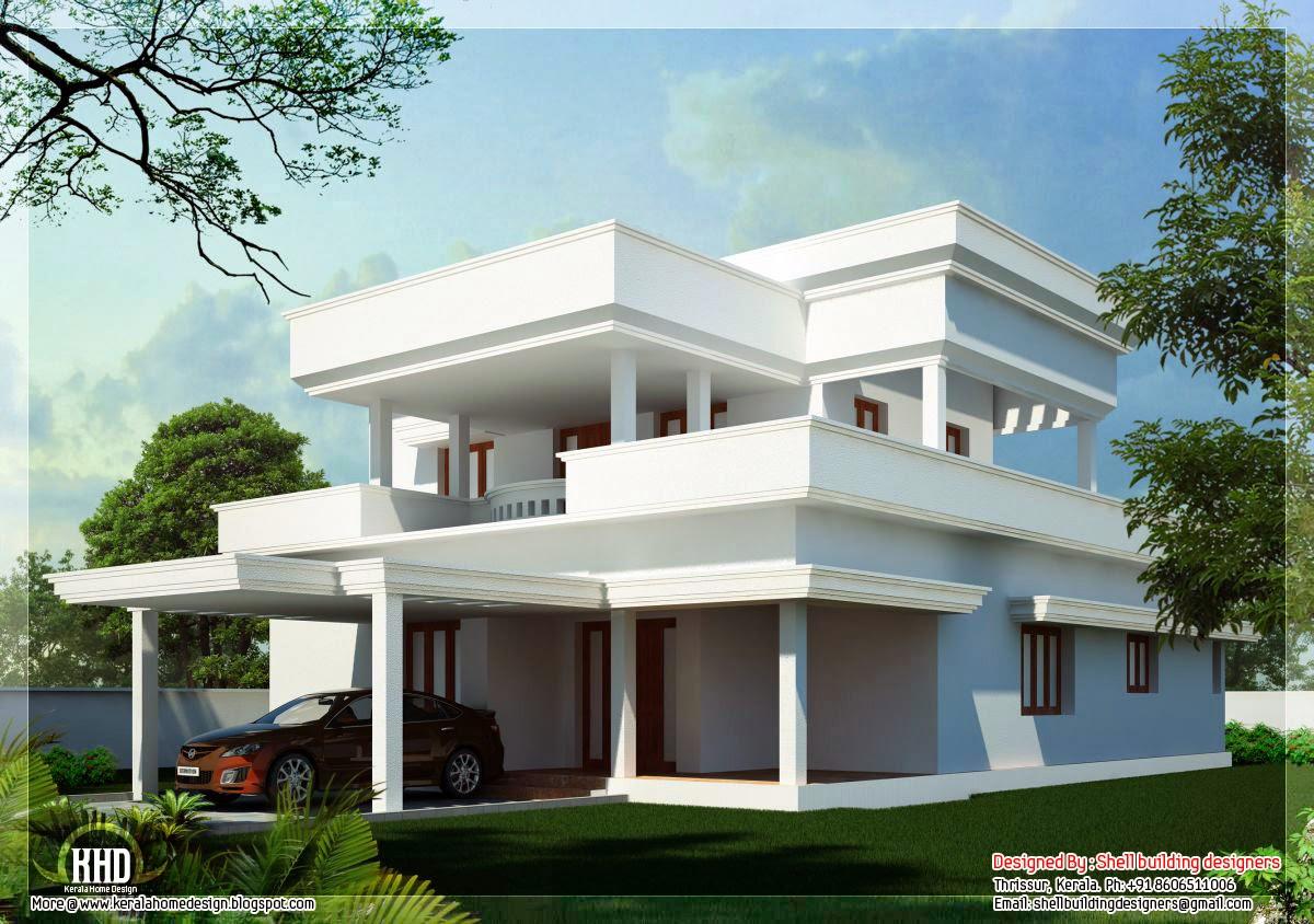 Kerala Home Design Flat Roof Elevation Inspire Kerala Houses