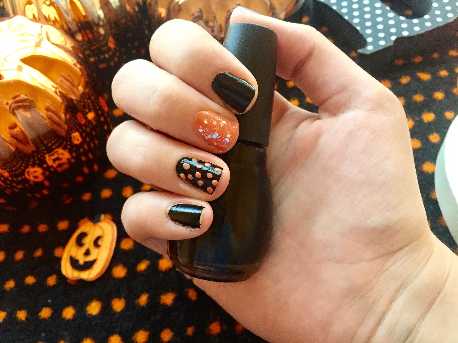 paint remaining nail orange