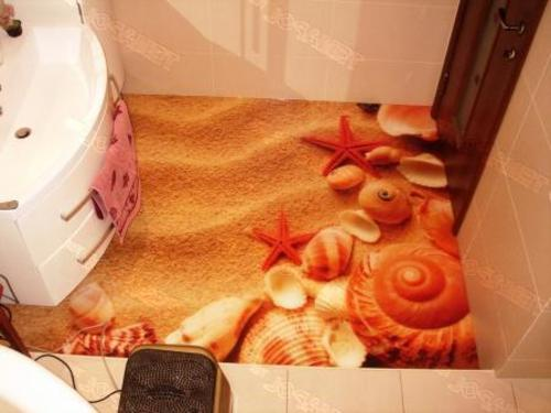self-leveling 3D flooring for bathroom - 3D floors