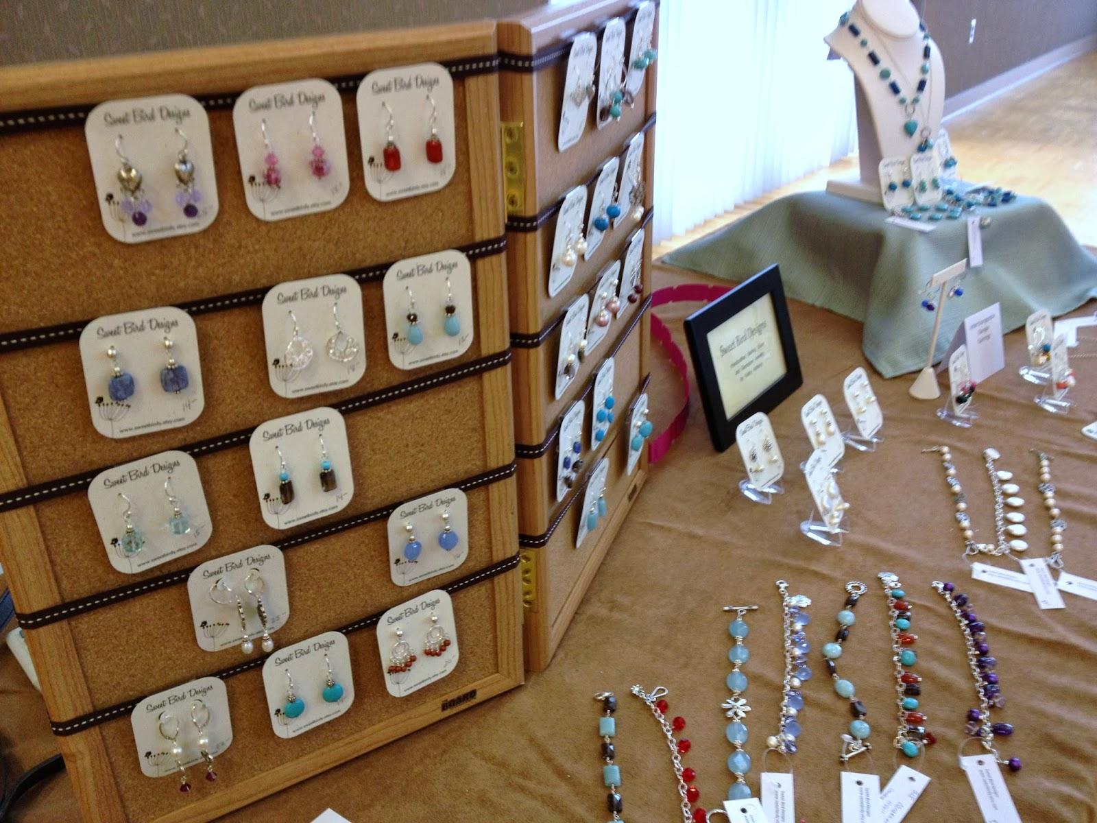 Birdy chat jewelry craft show displays for Craft show jewelry display