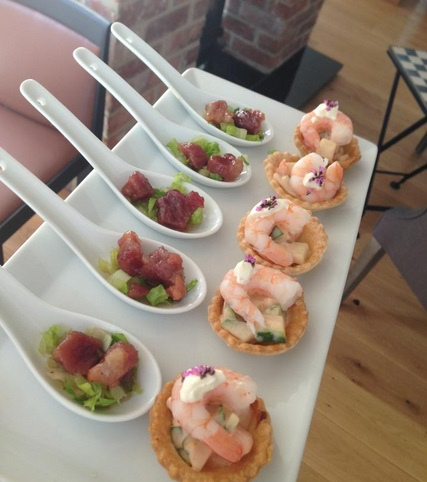 The cotswold food year summer garden party in blockley for Summer canape ideas