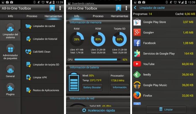 borrar android app