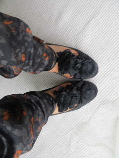 black ruffle shoes debenhams designer next trousers ootd