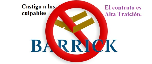 NO A LA BARRICK GOLD!!!