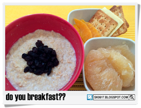 My Big Breakfast: Oats, Fruits & Crackers