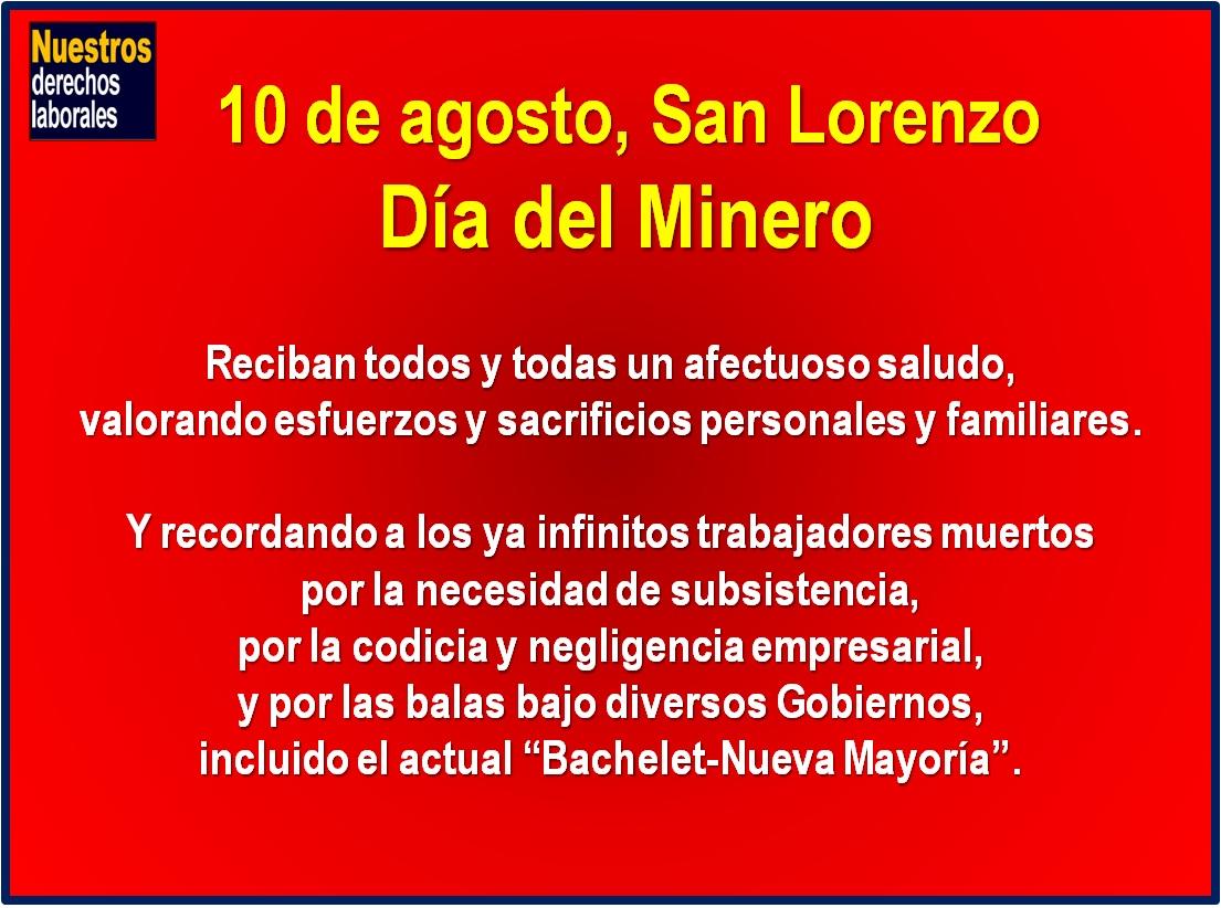 Saludos en el Día del Minero