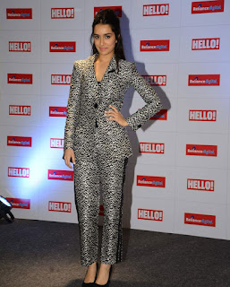 Shraddha Kapoor at in Leopard Print Trouser Shirt Spicy Pics the Launch of Hello Magazine Cover Page