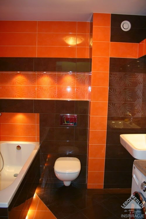 Baño Chocolate Blanco:Baños decorados de color naranja – Colores en Casa