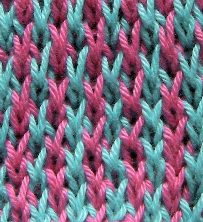 Two Color Double Knitting In The Round : Honeycomb tweed the weekly stitch