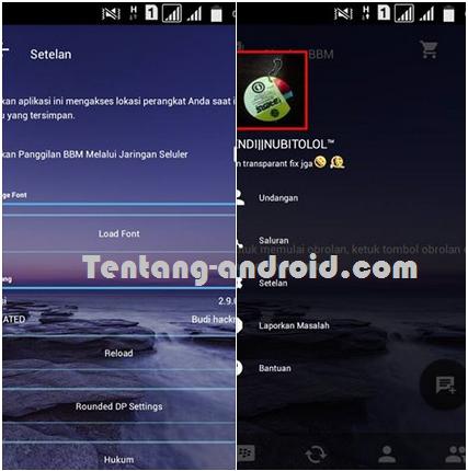 BBM MOD Transparant Versi 2.9.0.45 Terbaru Dark Tema Air Laut