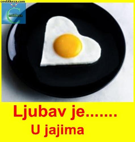 ljubav je u jajima