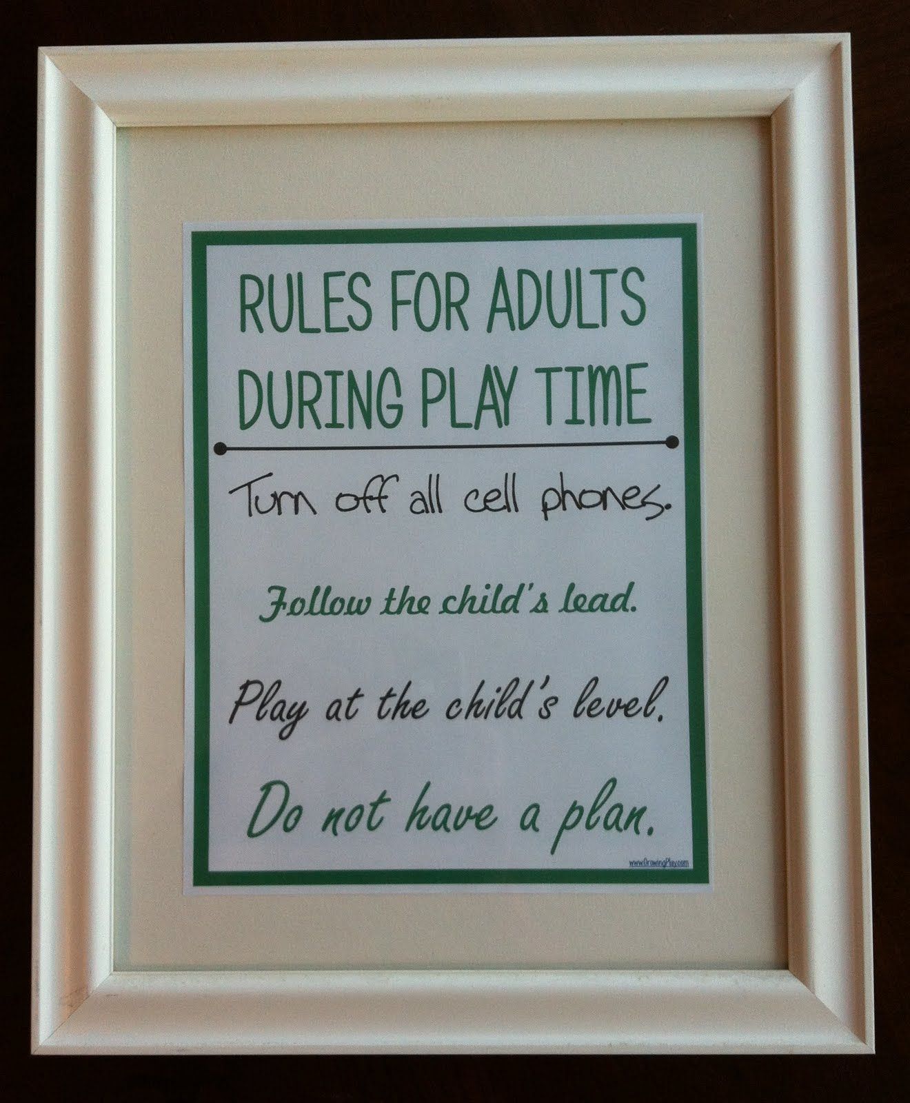 Growing Play Rules For Adults During Play Time