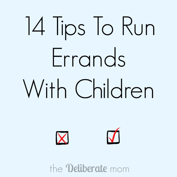14 Tips To Run Errands With Children