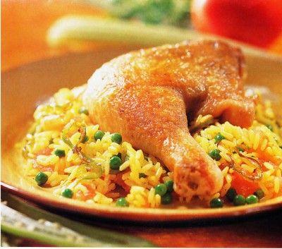 Receta de arroz con pollo sabor saz n - Platos de pollo faciles ...