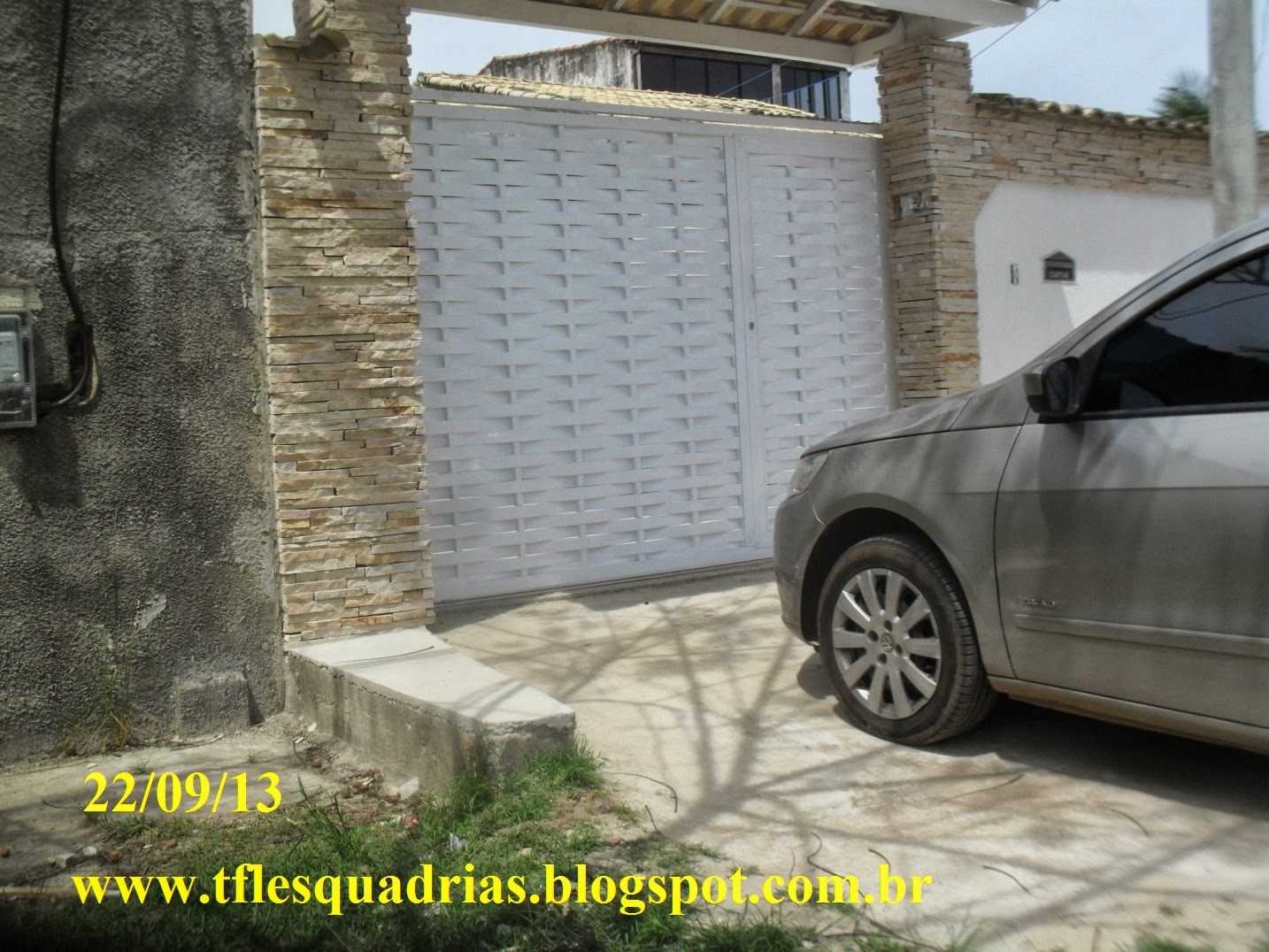 #B6B515 Portões de Alumínio Fotos e modelos Preços Apartir de R$ 1.499 90 1362 Preços De Janelas De Aluminio Leroy Merlin