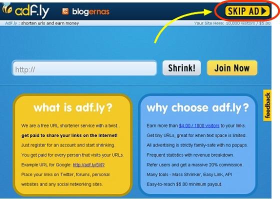 Rahasia Cara Download di Situs Adf-ly dg Sekali Klik Langsung Jalan