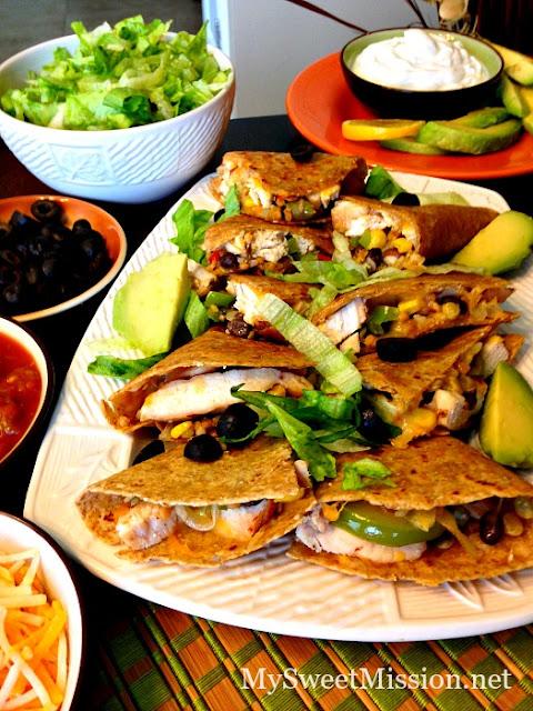 Chicken Fajita Quesadillas at My Sweet Mission. Heather is sharing a ...