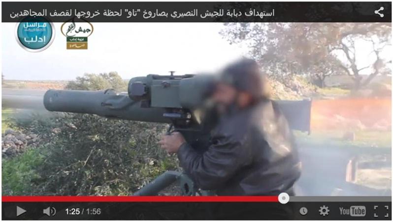 Mujahidin Suriah Gunakan Rudal Anti Tank