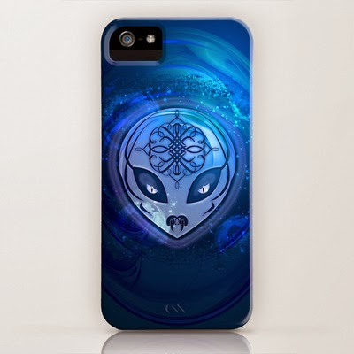 Awesome Blue Alien Dream iPhone / iPod Cases
