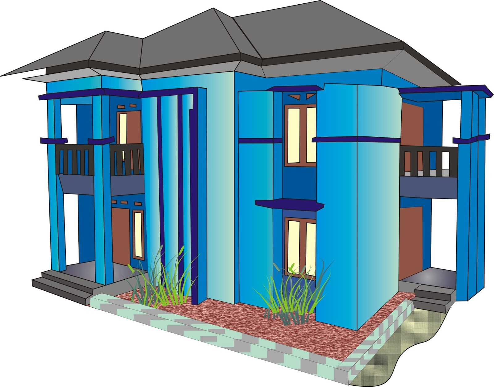 Info desain contoh model rumah mewah software pembuat corel draw 12