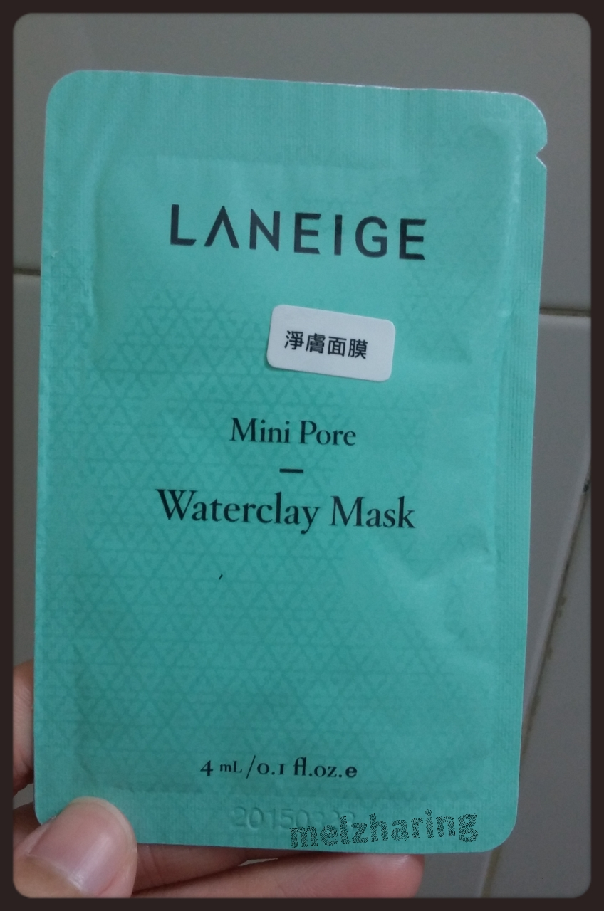 Laneige Mini Pore Waterclay Mask My First Sharing Wateclay