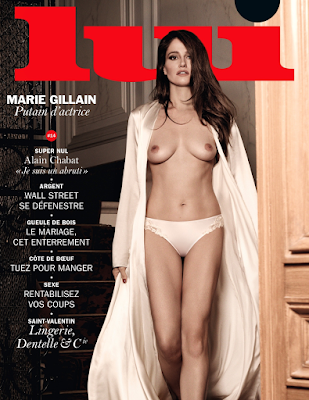 Marie Gillain topless in Lui Magazine February 2015 Mark Segal