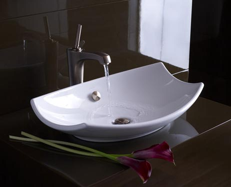 Fancy Sinks : Jennifer Adams Design Tips and Trends: Design Tips: Vessel Sinks!