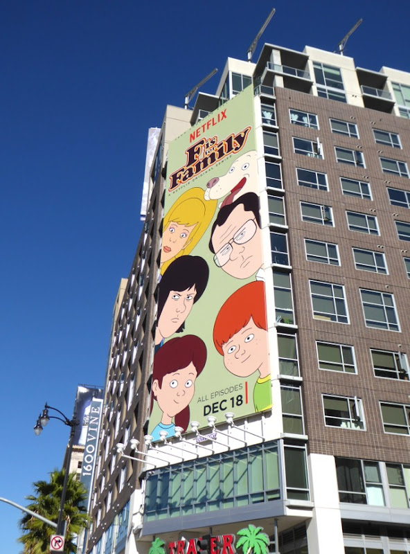 F is for Family series launch billboard