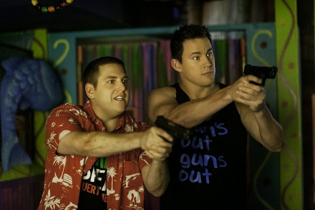 Jonah Hill & Channing Tatum in 22 Jump Street movie still