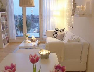 dicas para decora uma sala branca e pequena