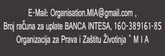 Udruženje MIA- Donation Info