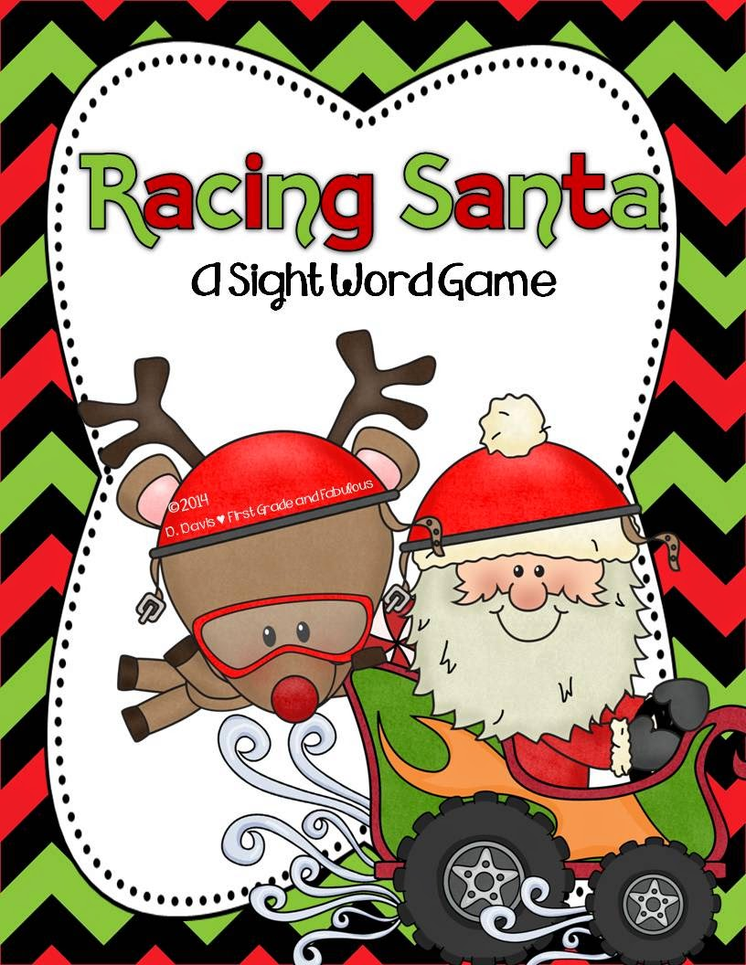 Racing Sight Sight Word Game Freebie-First Grade and Fabulous