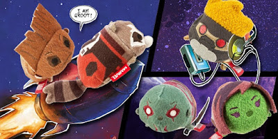 Guardians of the Galaxy Marvel Tsum Tsum Plush Series 2 by Disney - Star-Lord, Gamora, Drax, Rocket Raccoon & Groot