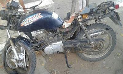 Acidente de moto em Reriutaba.