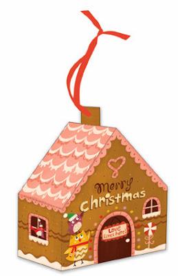adorno árbol navidad casa recortable