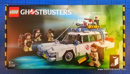 The LEGO Ghostbusters Ecto-1 Car and Minifigures set 21108 Box