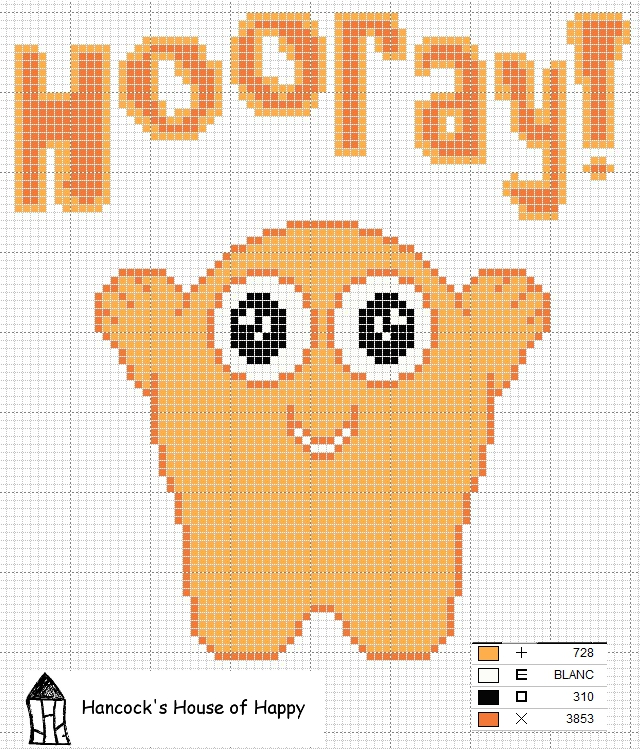 Hooray! free cross stitch chart