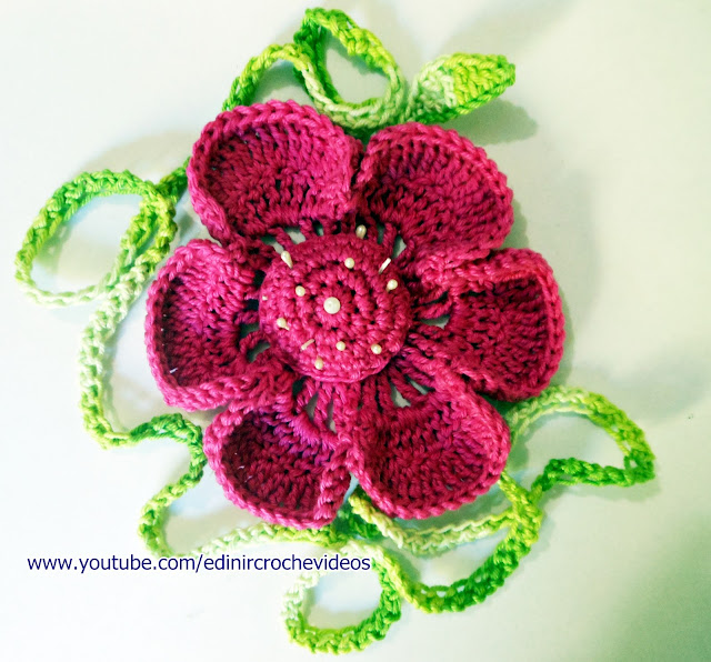 crochet flowers for musketeers aprender croche edinir-croche