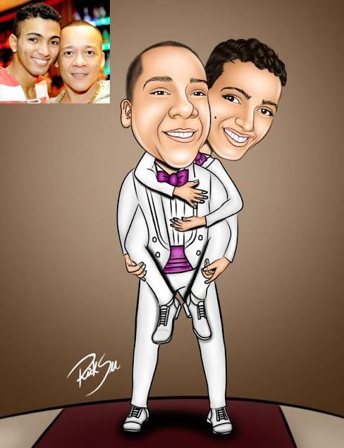 homosexual em caricaturas