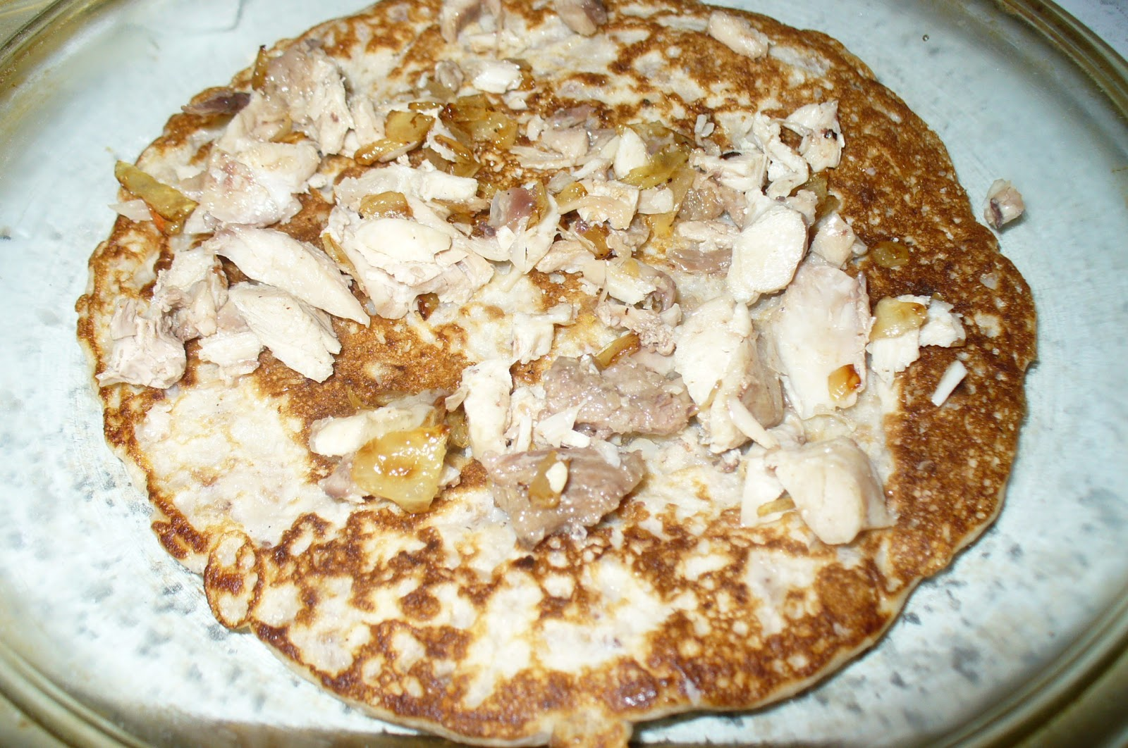 блинчатый пирог с курицей