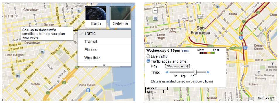 how to get google maps to show traffic