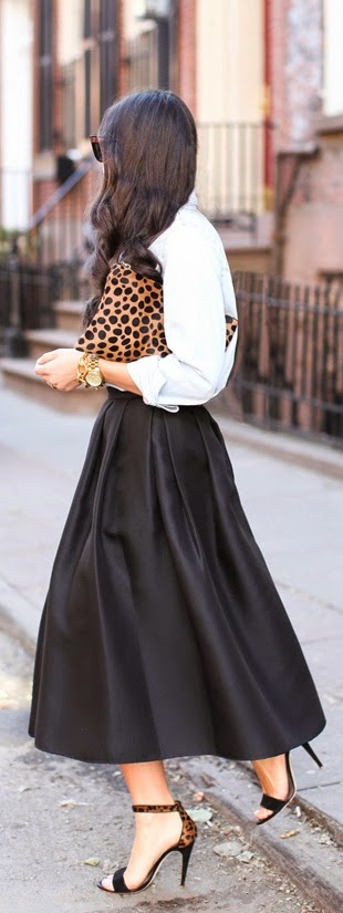 Love the Black Tibi Skirt with Tie Waist | Spring Street Chic