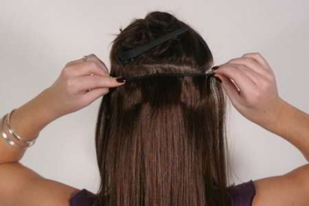 Image result for how to fix extensions brown hair tutorial