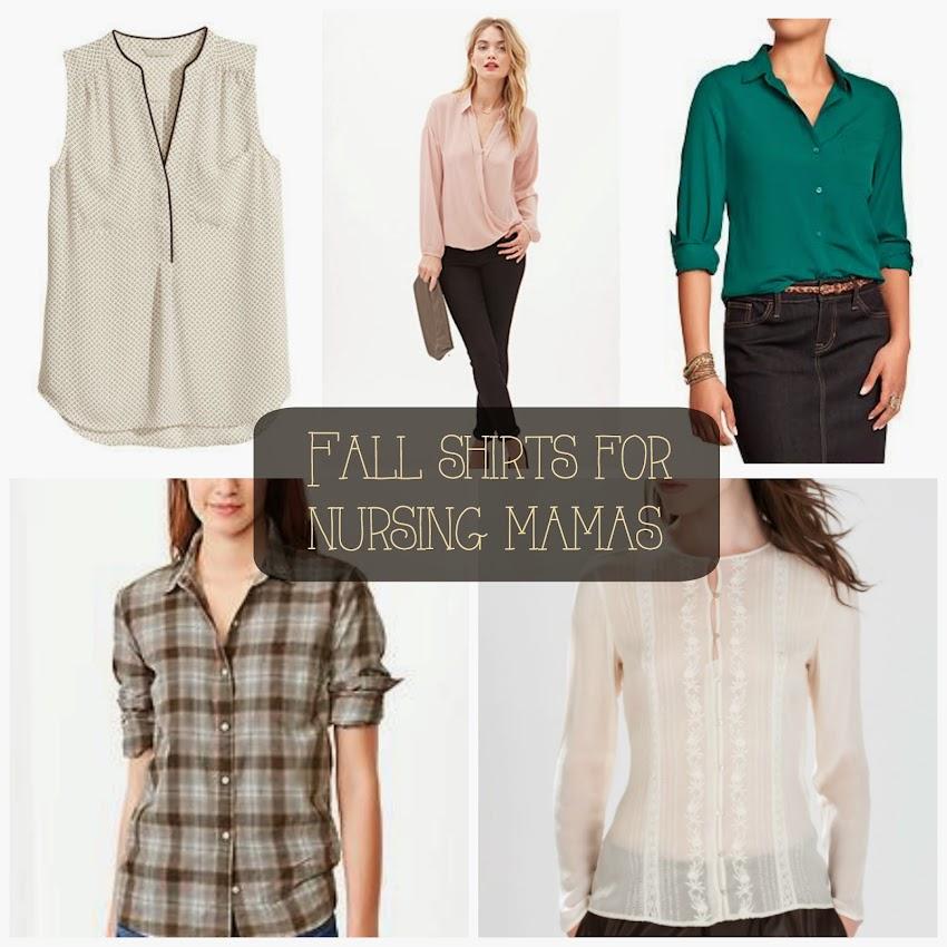 Fall shirts for a nursing mama