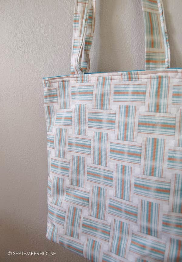 retro lawn chair fabric tote bag project by septemberhouse