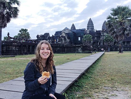 picnic in Angkor Wat