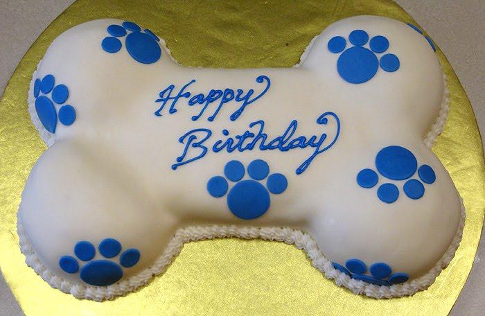 Happy Birthday Puppy Bone Cake