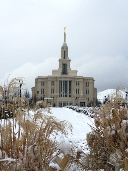 winter snow photographs utah LDS temple nature beauty