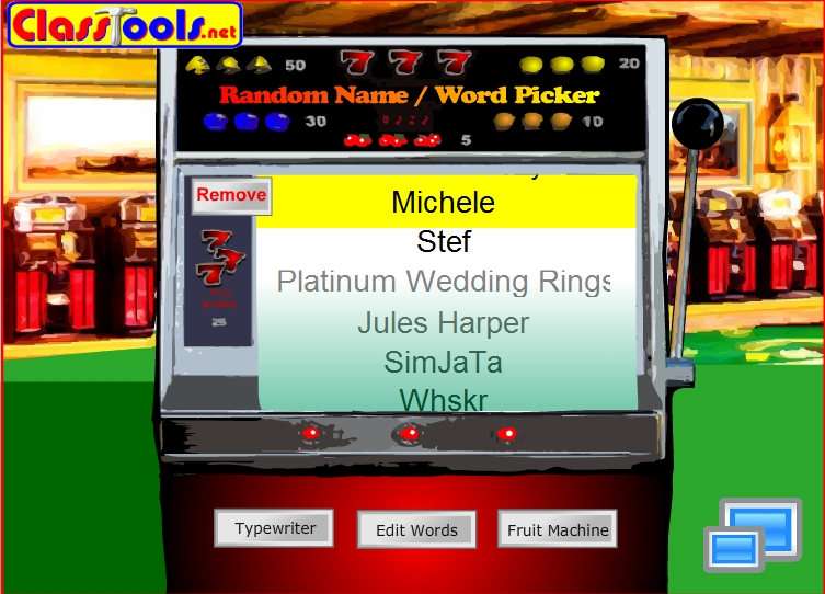 slot machine name picker