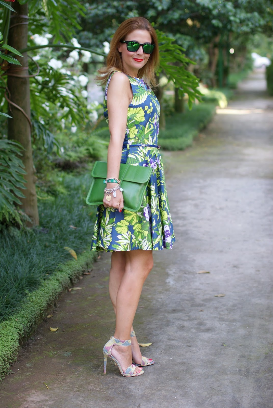 Closet dress, floral print dress, Camouflage heels, Fashion and Cookies, fashion blogger